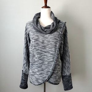 Calvin Klein Gray Cowl Neck Knit Sweater Large